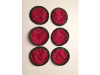 CHRISTMAS COASTERS - Set of 6