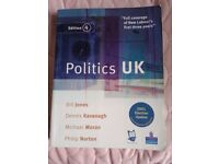 Politics UK by Bill Jones, Dennis Kavanagh, Michael Moran and Philip Norton. 4th ed.