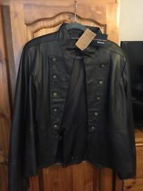 Ladies leather coat size 22 new