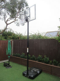 NBA Spalding Clear Acrylic Portable Basketball Ring Hoop Net & Spare Backboard - USED