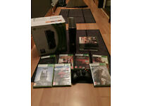 Microsoft Xbox 360 Slim 250 GB Console + 16 Top Games Some New Perfect Condition Rock Band Drum Kit