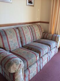 """Lees"" furnishing store (of Grimsby) 3 piece suite, 3 seater sofa and 2 armchairs"
