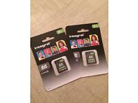 x2 8GB memory cards