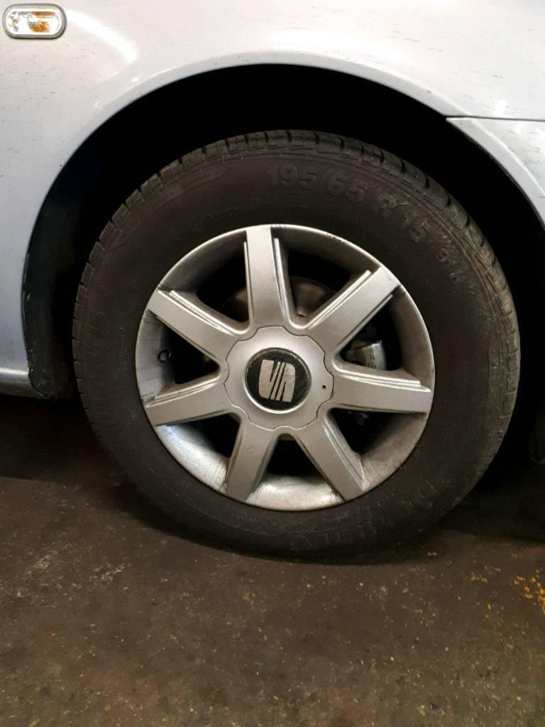Vw seat alloys 5x112 new tyres