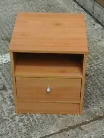 One small bedside cabinet med colour wood