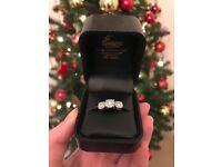 Platinum and diamond 0.99 ct ring