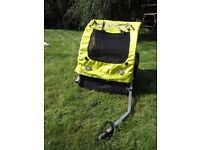 Froggy two seat bicycle trailer