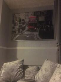 Ikea rare framed picture London red bus