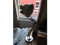 Silver desk lamp B&Q
