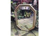Gold bevelled mirror