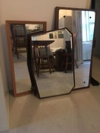 Rare Pack of 3 vintage mirrors