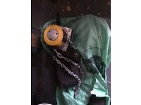 Yale 360 chain hoist 1/2 ton and pulleys and chain