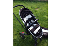 Limited Edition Silver Cross Surf Humbug Black/White Unisex Pushchair Pram