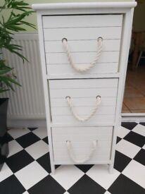 Wooden 3 drawer storage cupboard