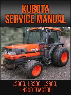 Kubota L2900 L3300 L3600 L4200 Tractor Service Repair Manual On Usb