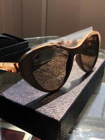 100% real prada tapestry sunglasses