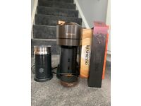 Nespresso By Magimix Vertuo Next Coffee Machine with Aerocinno Milk Frother + Coffee Pods