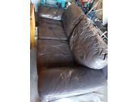 Free Faux leather sofa