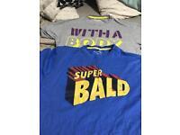 Set of 2 Small Men's Novelty T-Shirts
