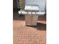 Char - broil barbecue bbq, 3 burner stainless
