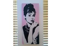 Audrey Hepburn Canvass Picture