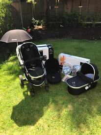 Icandy peach black magic - total travel system in Mint condition