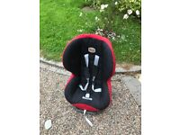 Group 1 and 2 Britax Evolva 1-2-3 Plus carseat - Red / Black OR Grey / Black