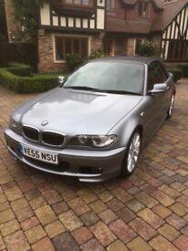 BMW 3 series 2.2 320ci Sport convertible, automatic, metallic grey, black leather seats