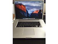 17 Inch Macbook Pro - OS X EL Capitan (4GB RAM, 500GB HDD)