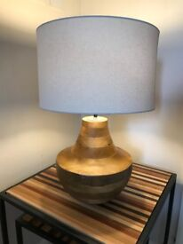 Solid wood table lamp