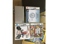 Nintendo DS with 3 games and charger