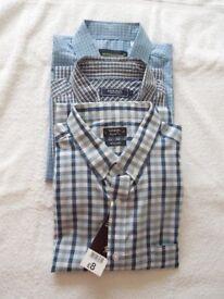 A Genuine Bundle Of 3 x Mens Designer Shirts Size L-XL(42-45)