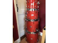 Orange County Drums and Percussion OCDP drum kit Orange Sparkle
