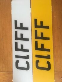 C1FFF - Number Plate on retention