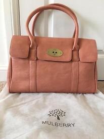 Mulberry style leather Bayswater bag in pink brand new