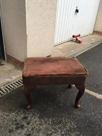 Small decorative retro footstool bargain free delivery