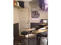 Private drum practice booth/tuition studio/3 piece rehearsal room available starting July 10th!