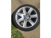 BMW Genuine 2x BMW wheels 225-45-17 on Pirelli tyres, 2 spare continental tyres with good thread