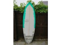 Cre8tion Hot Pepper Jelly - 5'10 - 38L - Surfboard - Fish - Funboard - Grovel board - Hybrid
