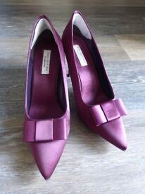 John Lewis Collection Satin Finish Court Shoes UK 5 Purple