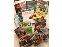 Job lot of cooking books, recipes