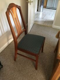 Ercol teak dining room chairs