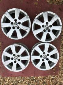 "Genuine VW 15"" Alloy Wheels from a Polo"