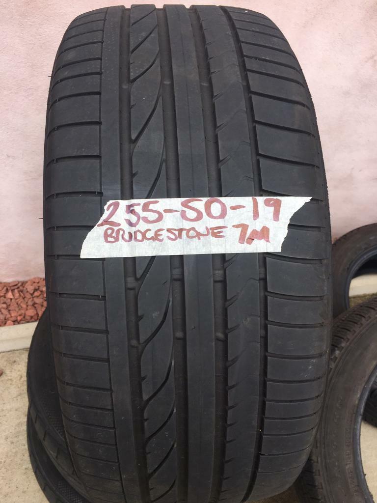 1 x 255 50 19 Bridgestone 7 mm tread FREE MOBILE TYRE FITTING | in  Gartcosh, Glasgow | Gumtree