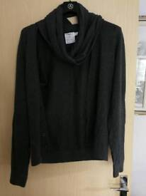 Topman cardigan with scarf roll - small