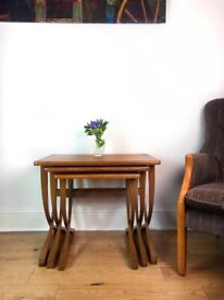 Mid Century Nathan Teak Nest Of Tables FREE LOCAL DELIVERY
