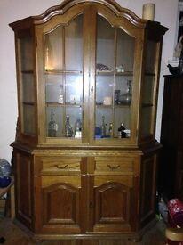 Oak Veneer Wall Cabinet