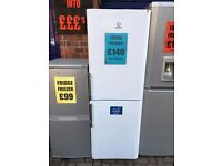 INDESIT FRIDGE FREEZER 60/40 WHITE RECONDITIONED