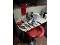 Bar Stool, Flatware, Cooking Utensils, Glass ware, Salt/pepper Grinders, Water Filter Jug and more