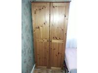 2 wooden wardrobes